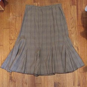 Sz 4 Nine West - Autumn Plaid Gored Skirt
